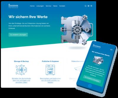 INCOM Webseite in neuem Gewand