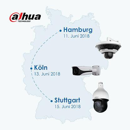 Dahua Solution Day in Hamburg, Köln und Stuttgart