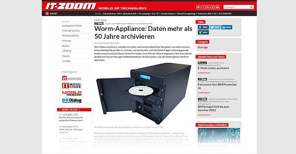 WormAppliance: Daten mehr als 50 Jahre archivieren