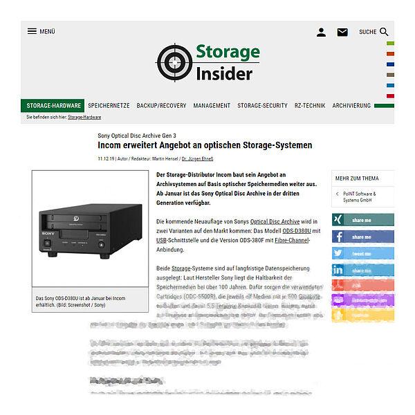 storage-insider.de vom 11.12.19
