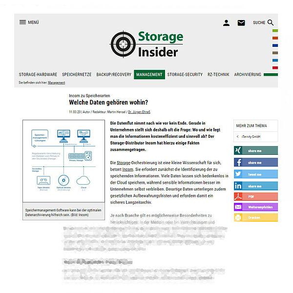 storage-insider.de vom 11.03.20