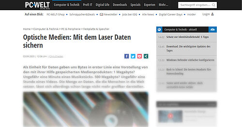 Optische Medien: Mit dem Laser Daten sichern