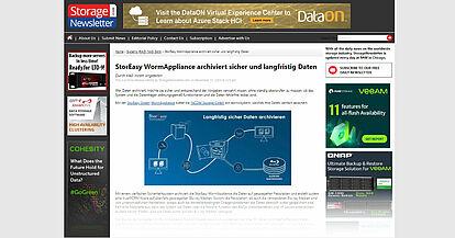 StorEasy WormAppliance archiviert sicher und langfristig Daten