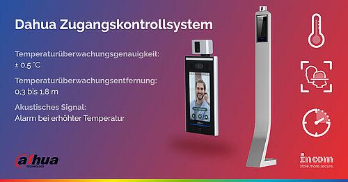 Dahuas Zugangskontrolle mit Temperaturüberwachungsterminal