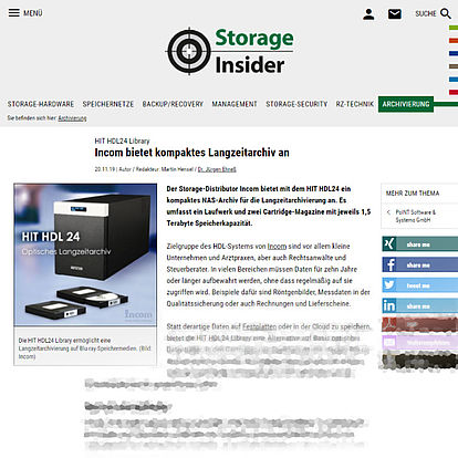 storage-insider.de vom 20.11.19