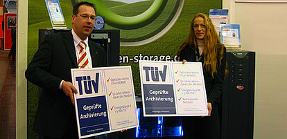 TÜV testing and certification of optical storage systems