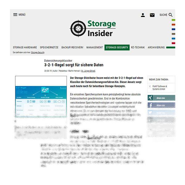 storage-insider.de vom 30.08.19