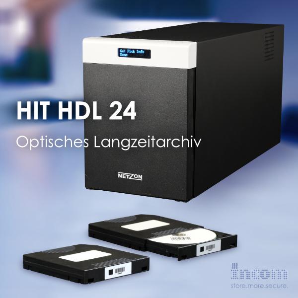 HIT HDL 24 - Kompaktes, optisches Langzeitarchiv