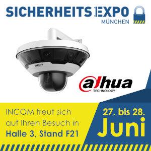 INCOM mit Dahua auf der SicherheitsExpo 2018